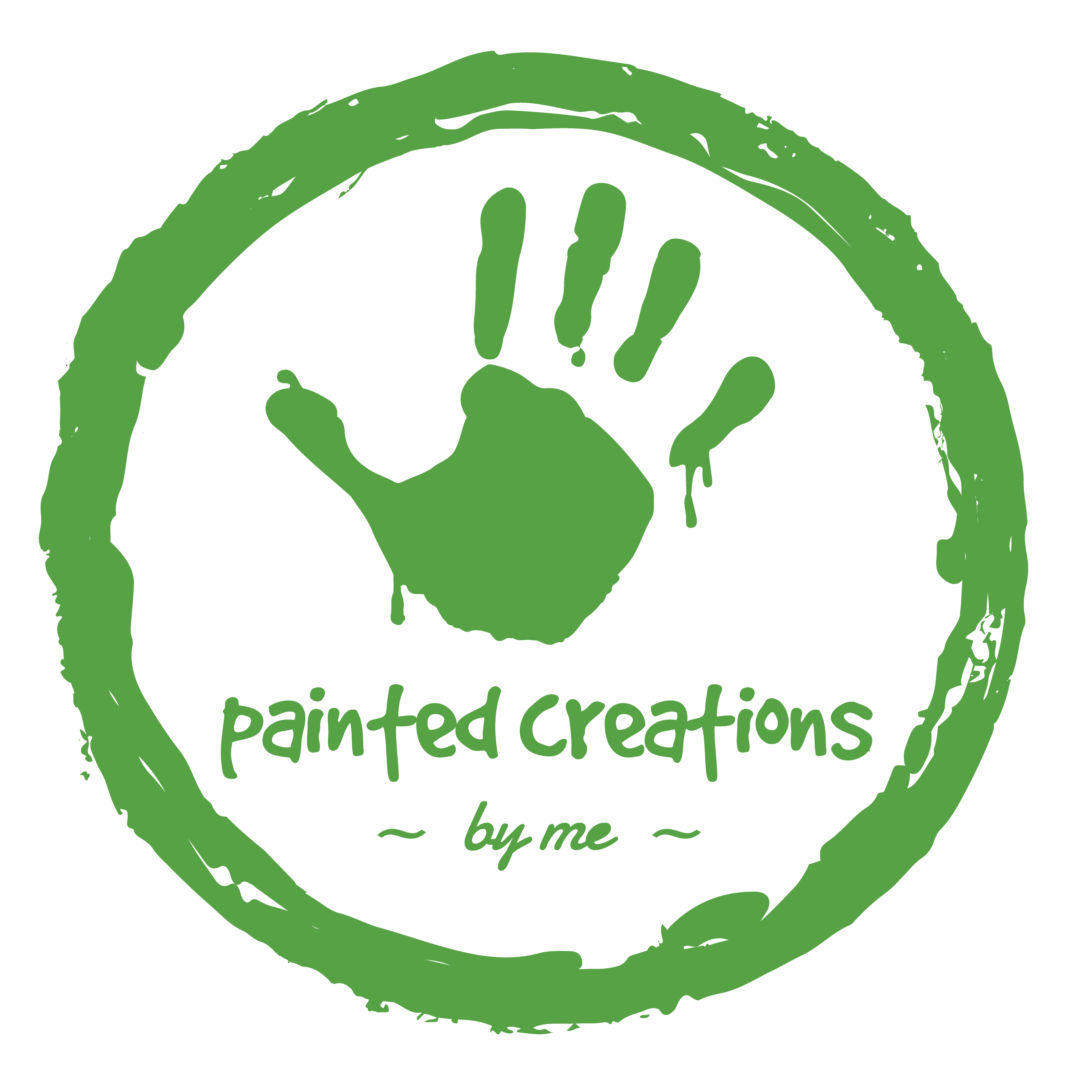 painted creations by me - green